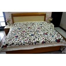 Danzdar Multi Crewel Bed Coverlet