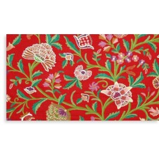 Crewel Fabric Danzdar Multi Red Cotton Duck